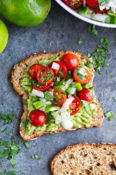 Avocado Toast with Cherry Tomato Salsa