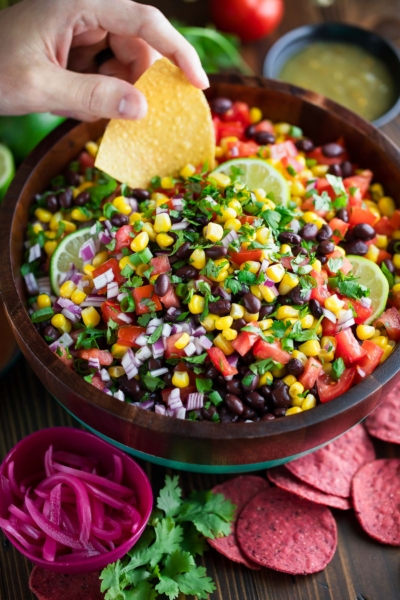 Black Bean Salsa with Chips