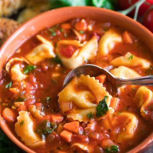 Bowl of Tortellini Soup