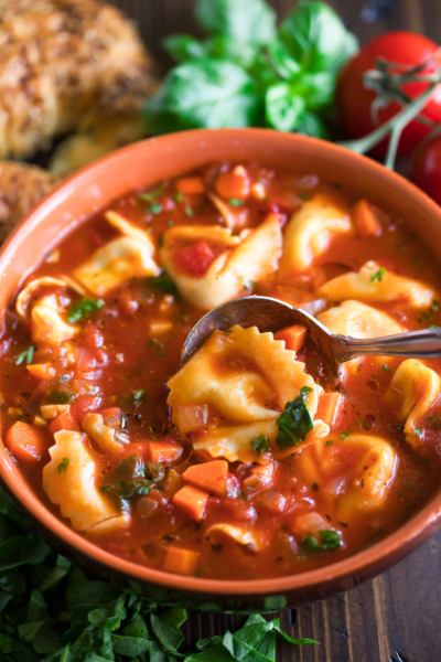 Bowl of Tortellini Soup
