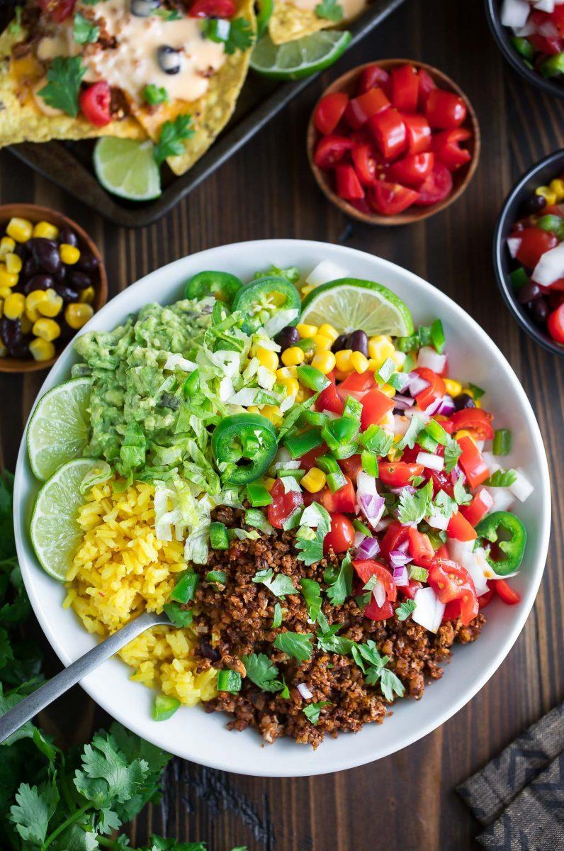 Vegetarian Taco Bowls Peas And Crayons Blog
