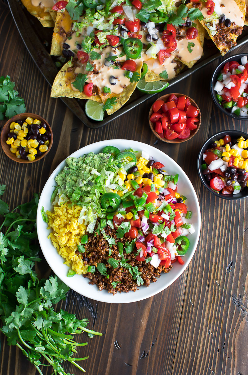 Vegetarian Taco Bowls with Fresh Salsa