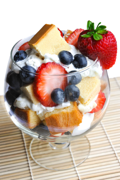Strawberry Blueberry Berry Trifle