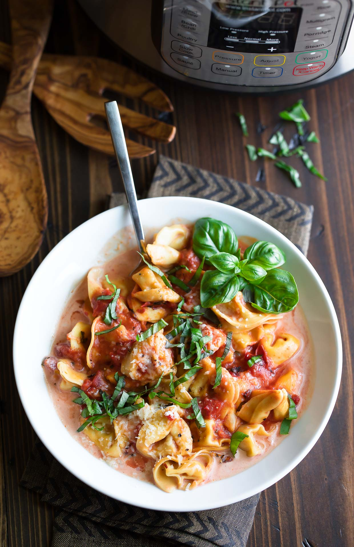 Basil Tortellini and Instant Pot