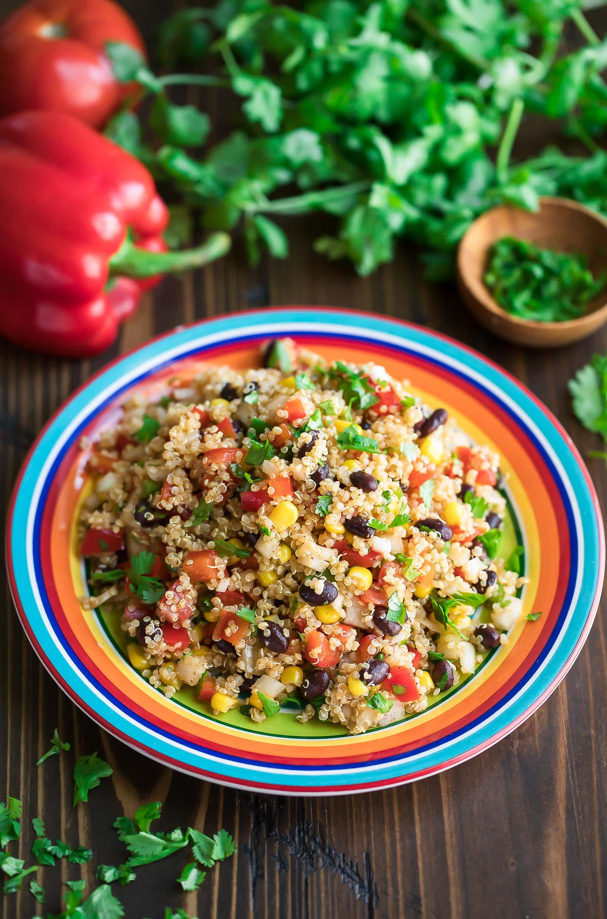 Mexican Quinoa Salad with Chili Lime Dressing