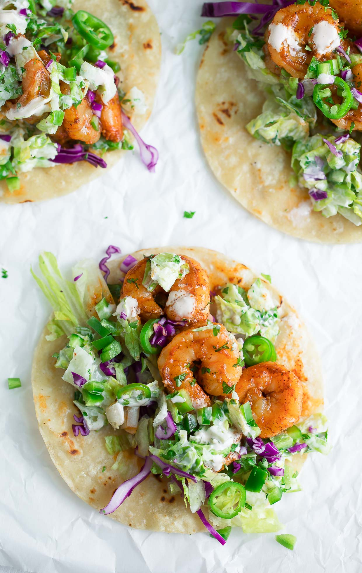 Shrimp Tacos with Cilantro and Lime