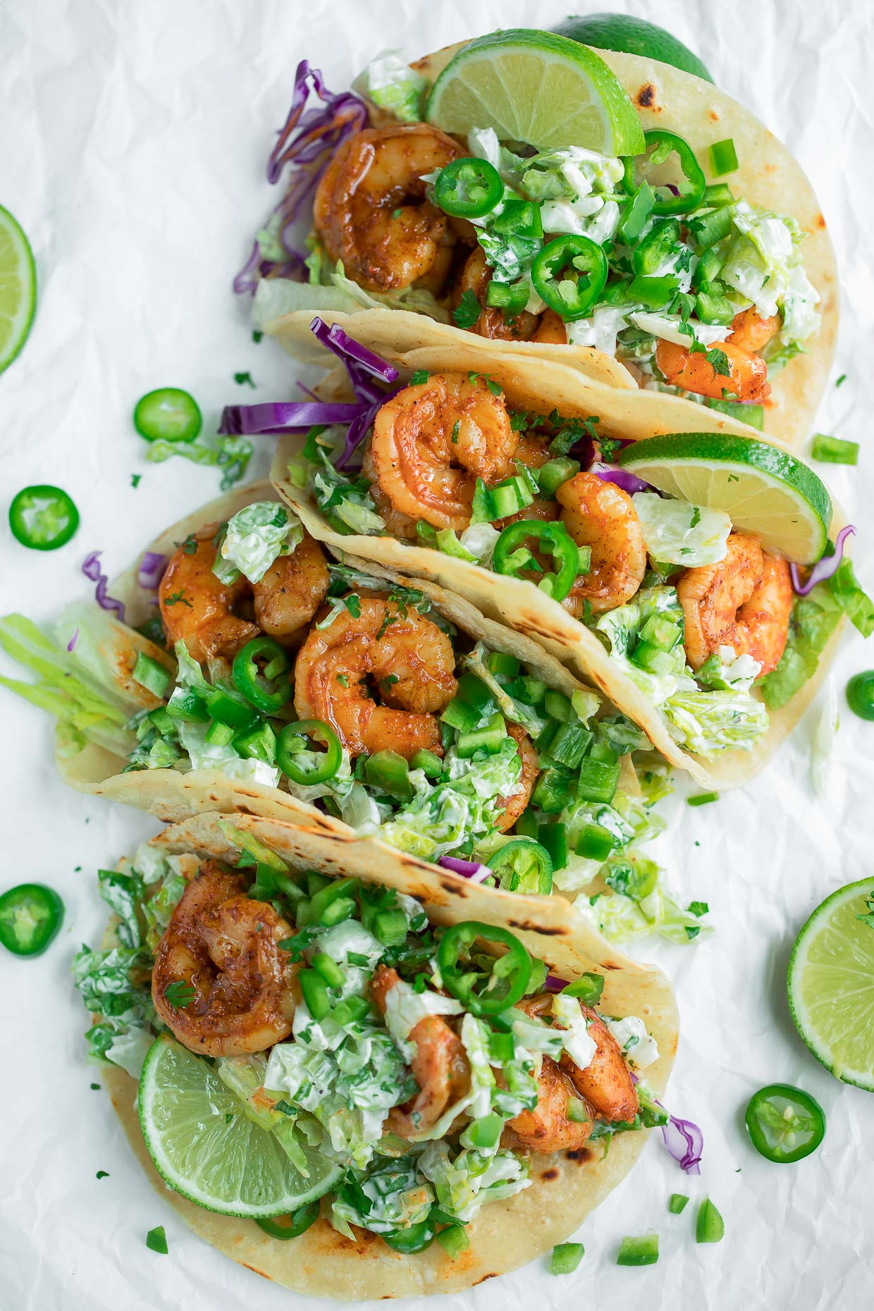 Cilantro Lime Tacos with Shrimp