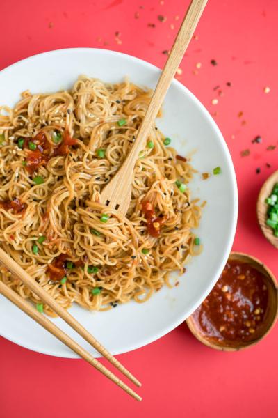 Spicy Sesame Ramen Noodles