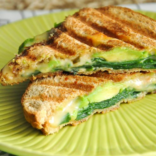 Spinach And Avocado Grilled Cheese Peas And Crayons
