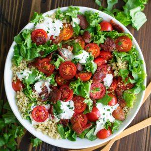 BLT Quinoa Salad Bowl