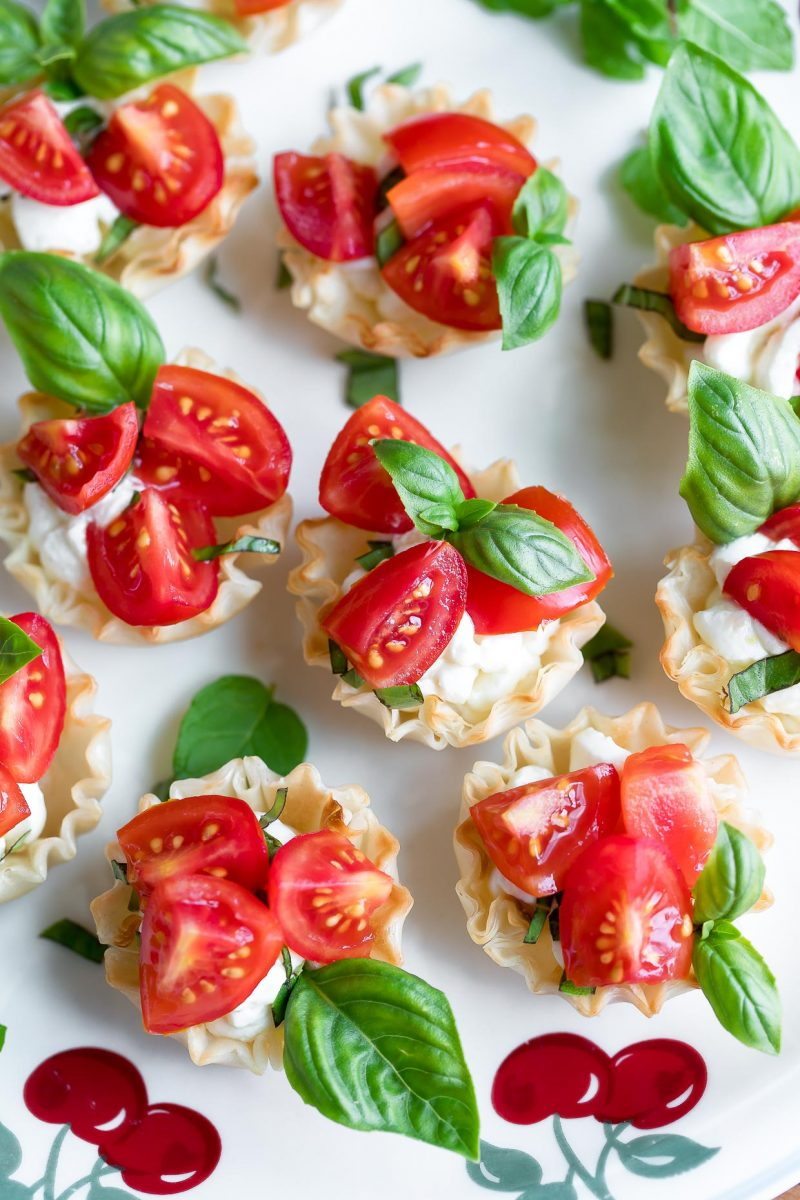 Cherry Tomato Bruschetta Cups