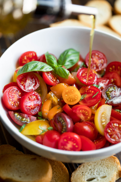 Marinated Tomatoes with Basil