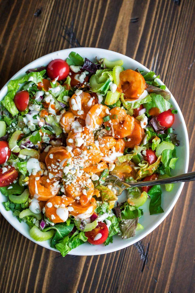 Buffalo Shrimp Salad Bowl