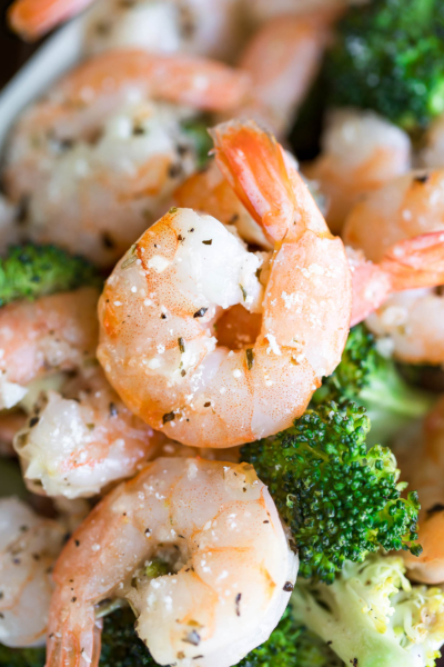 Roasted Garlic Parmesan Shrimp and Broccoli
