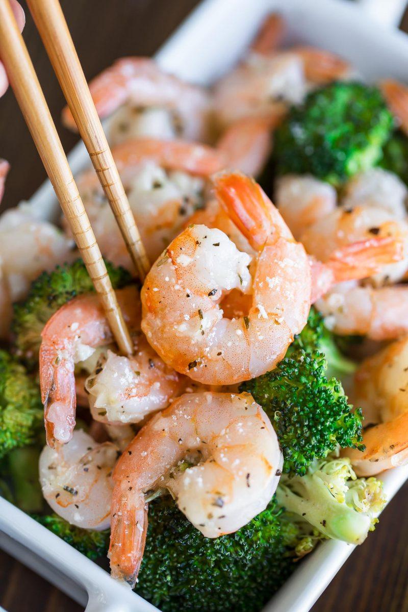 Garlic Parmesan Shrimp with Broccoli