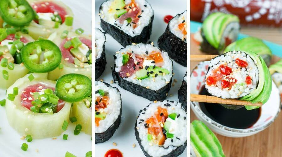 Tasty Homemade Sushi Recipes Collage