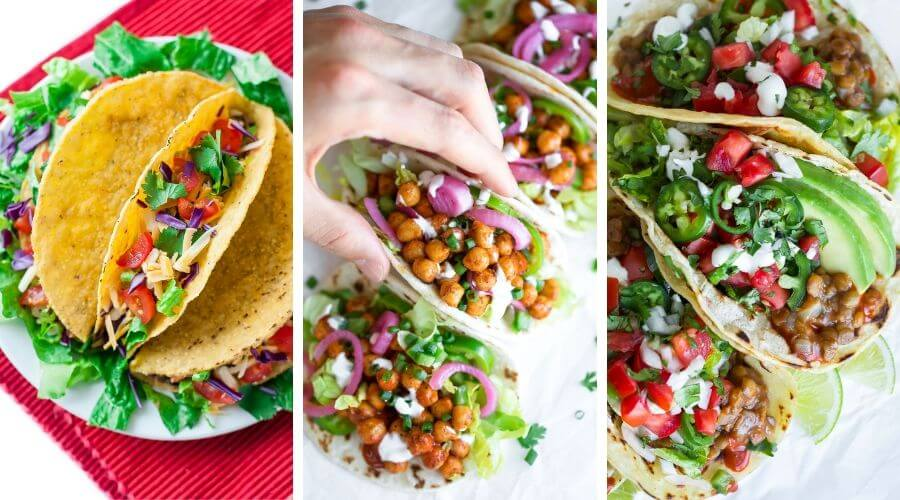 Healthy Vegetarian Taco Recipe Collage