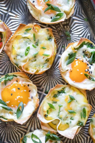 Wonton Egg Cups