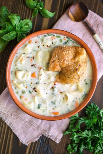 Creamy Tortellini Vegetable Soup