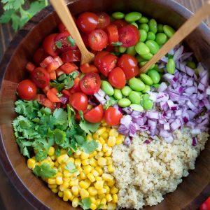 Edamame Quinoa Salad Ingredients