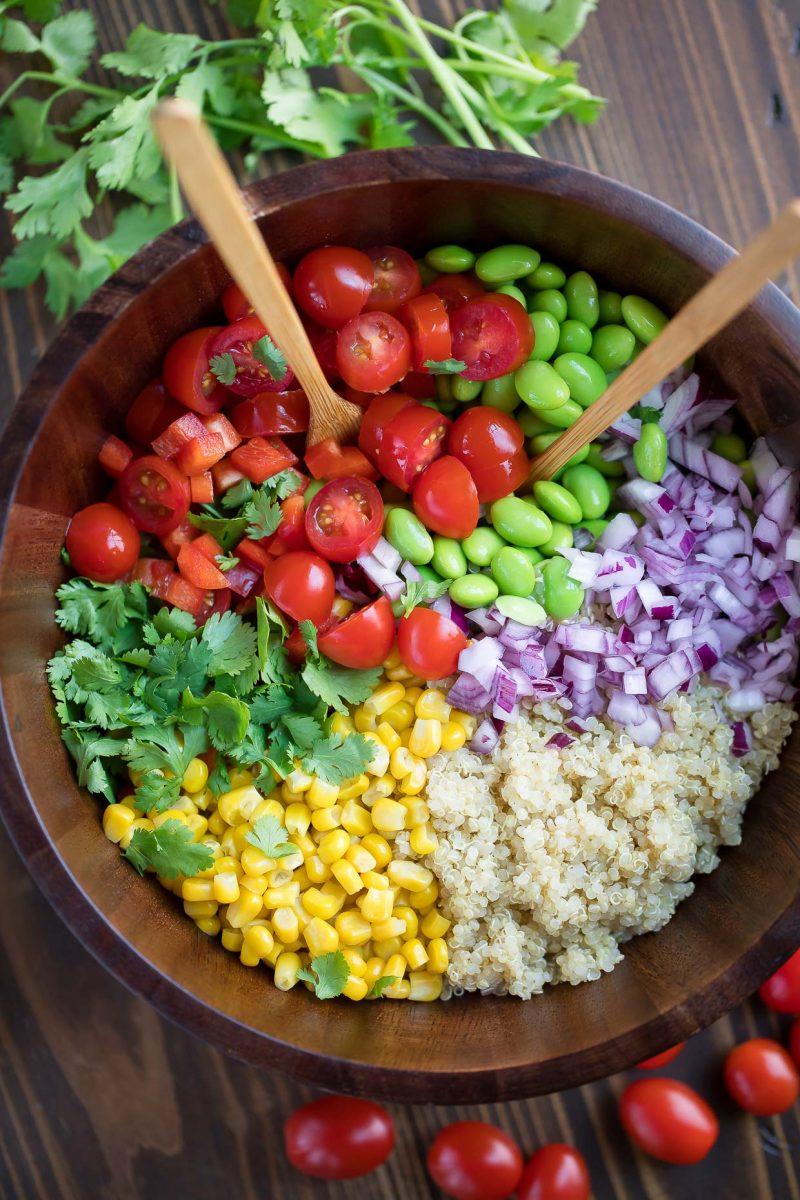 Quinoa Salad Bowl with Veggies