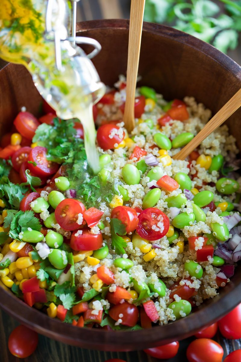 Quinoa Salad with Cilantro Lime Dressing