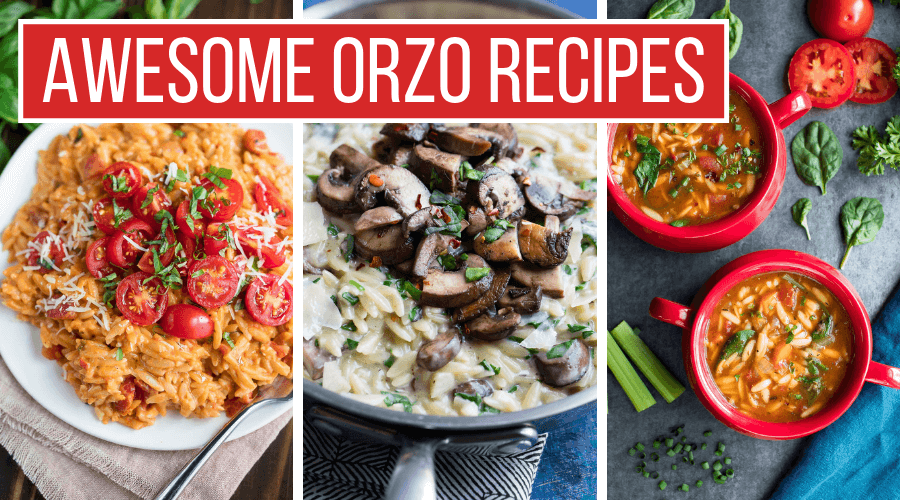 Awesome Orzo Recipes Collage