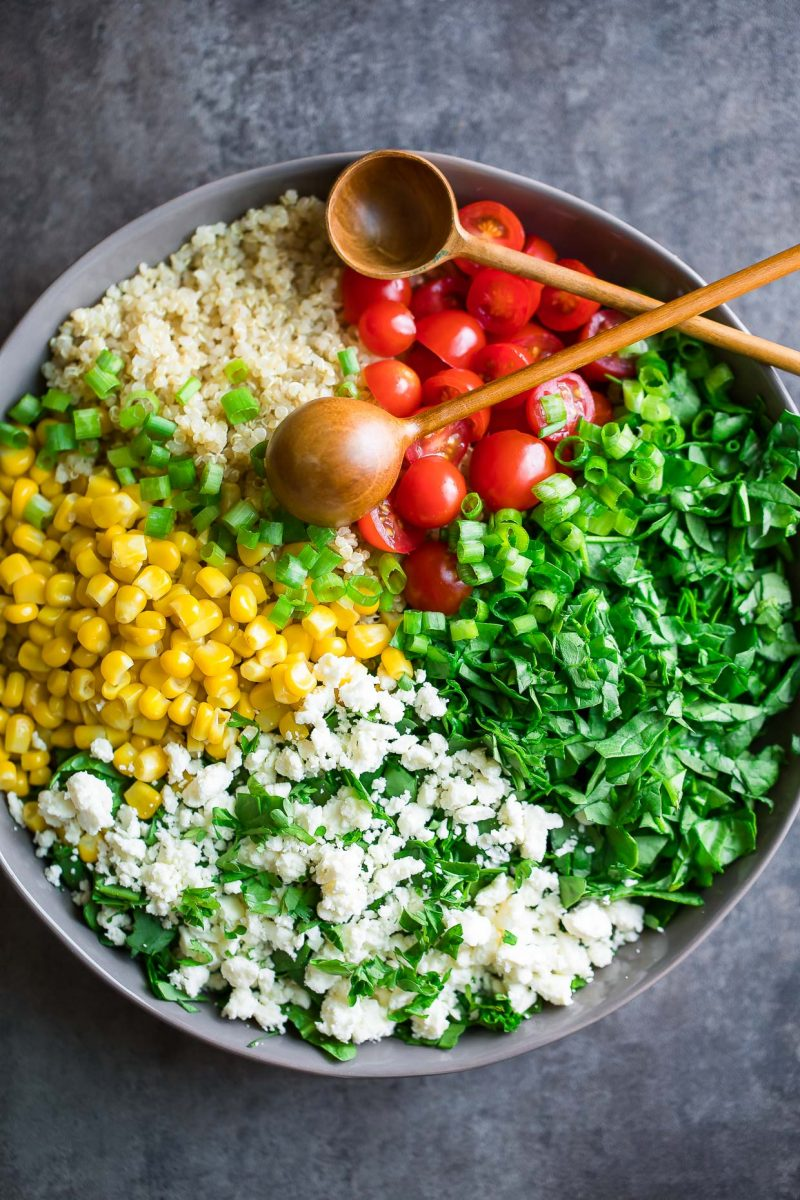 Quinoa Spinach Salad Ingredients
