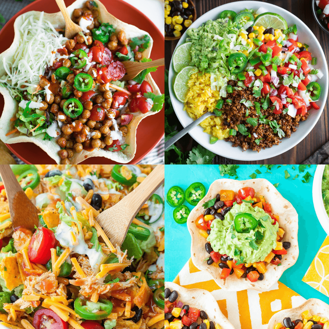 Taco Salad Ingredient Options