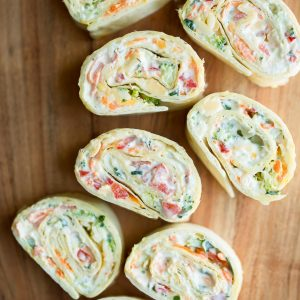 Vegetable Cream Cheese Roll Ups