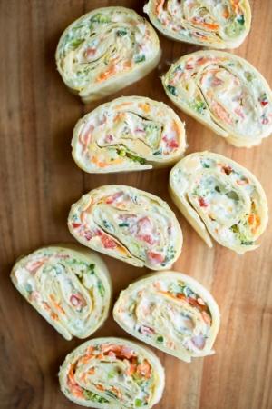 Vegetable Cream Cheese Roll Ups