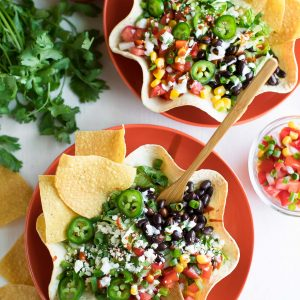 Taco Salad in Tortilla Taco Bowls