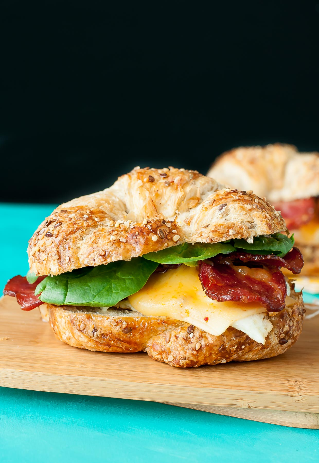 Croissant Breakfast Sandwich - Peas And Crayons