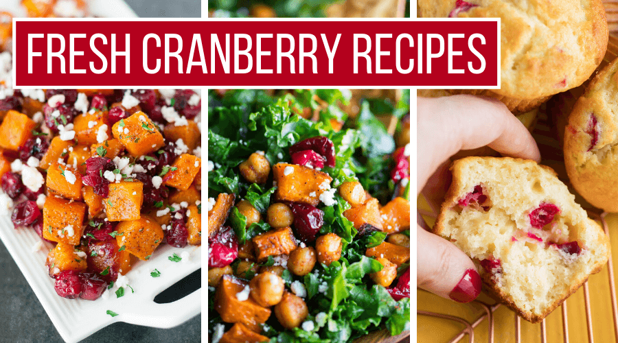 Fresh Cranberry Recipes Collage