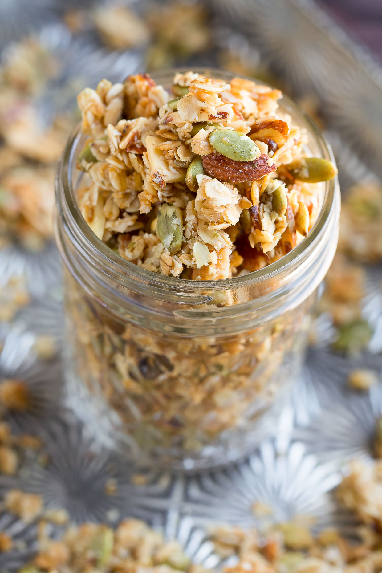 Easy Honey Almond Granola Recipe - Peas and Crayons