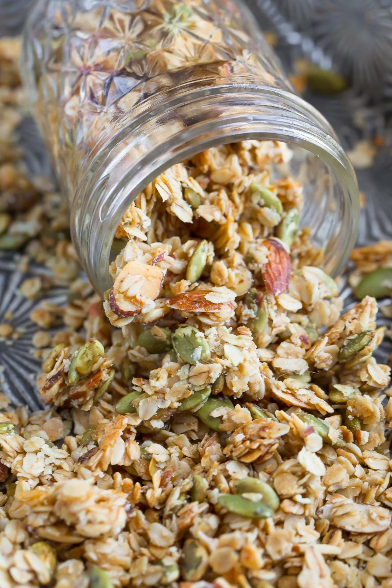 Homemade Granola with Honey and Almonds