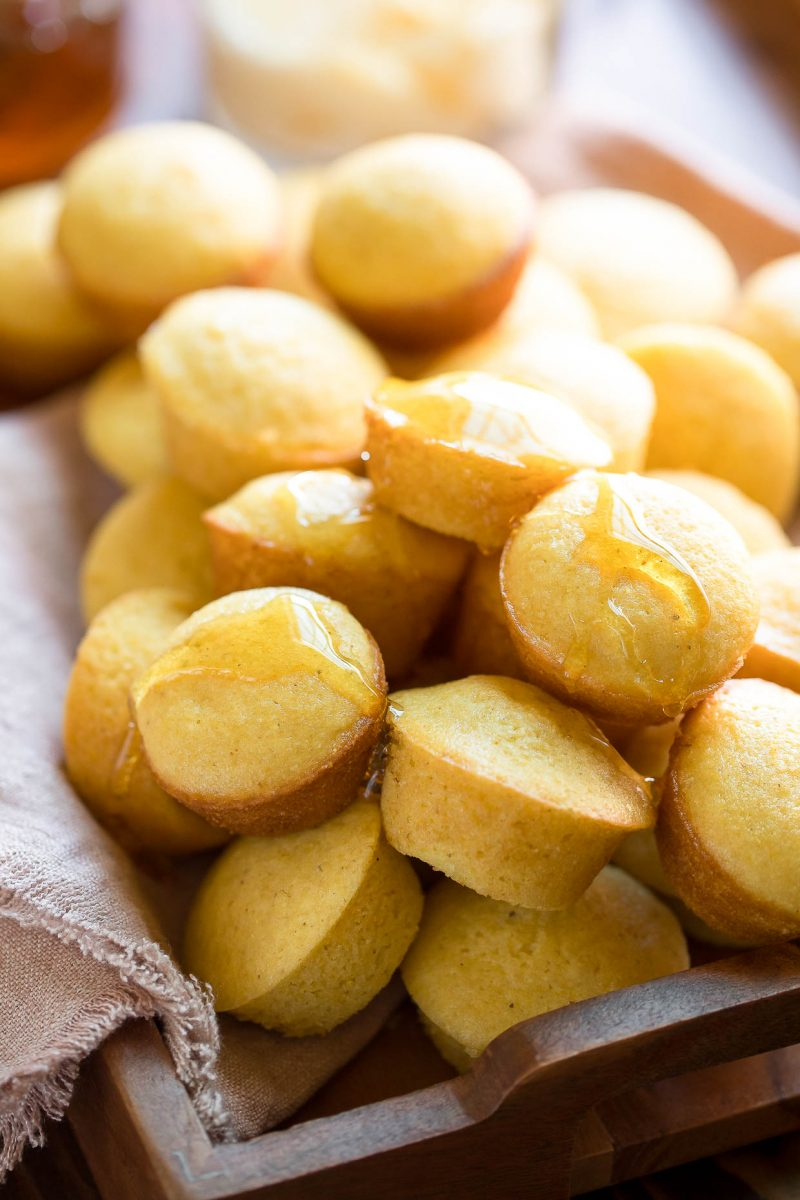 Mini Cornbread Muffins with Honey