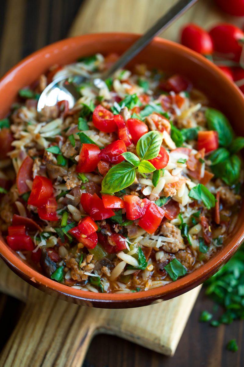 Instant Pot Orzo Pasta Bowl