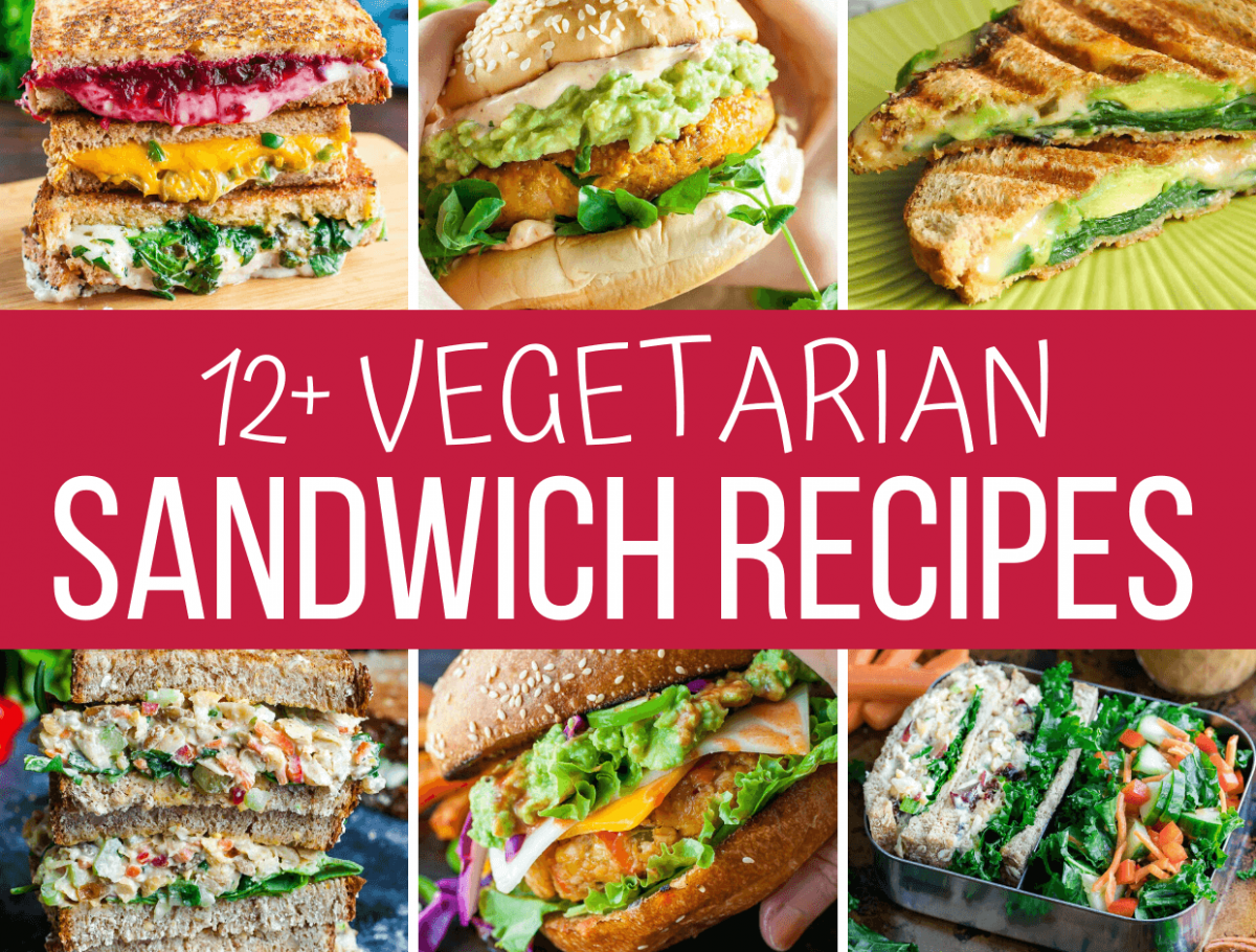 Recipe Collage of Vegetarian Sandwiches