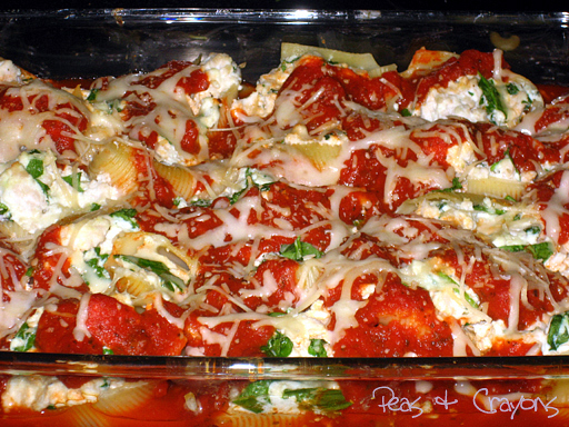 Cheesy Vegetarian Stuffed Shells