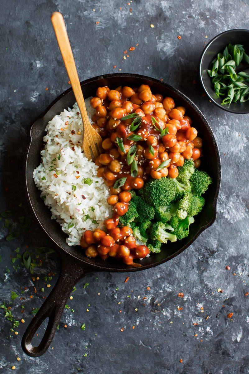 Sweet and Sour Chickpeas