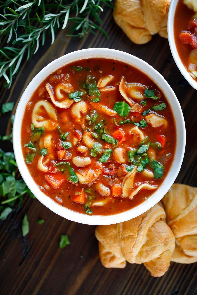 Vegetarian Tortellini Soup Bowl
