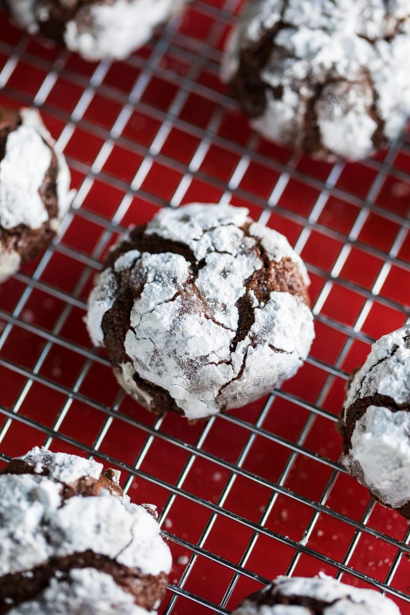 Chocolate Brownie Crinkle Cookies
