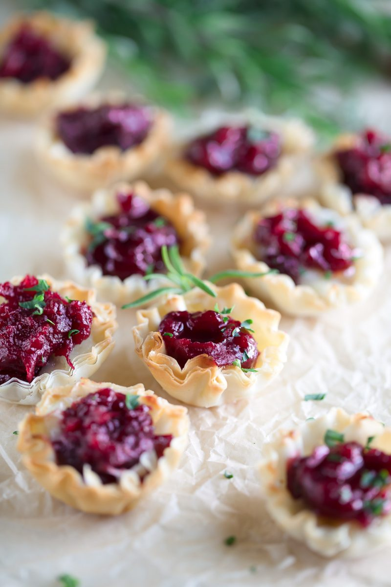 Cranberry Brie Phyllo Cups