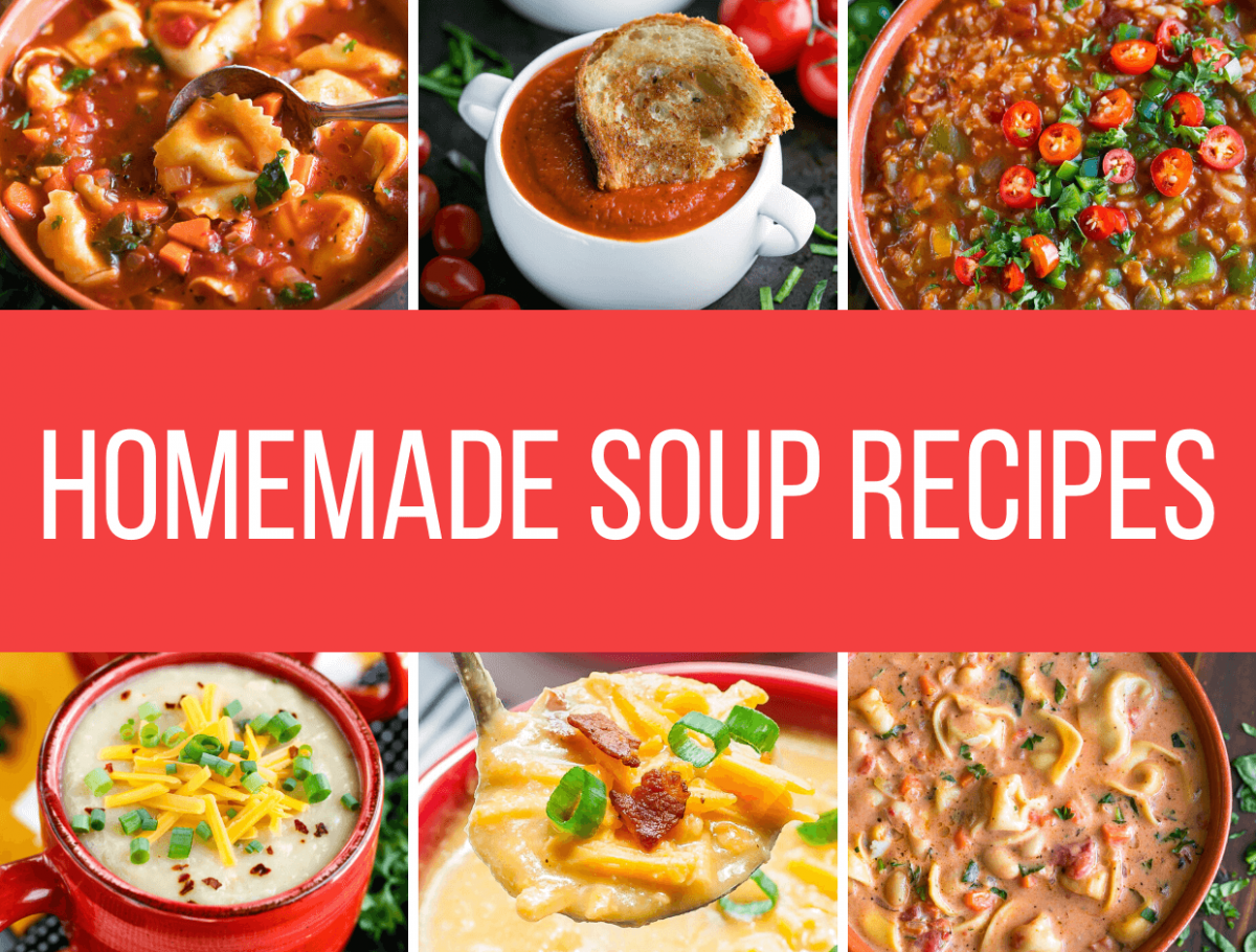 Ten Homemade Soups to Keep You Warm This Winter - Recipe Round Up Collage