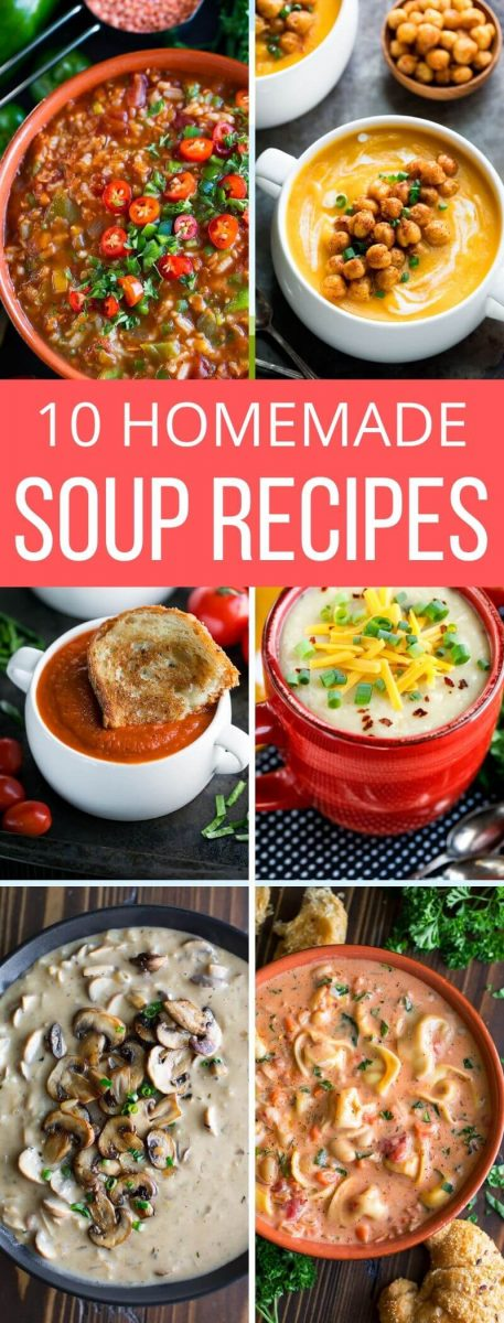 It's time to cozy on up with some good old fashioned comfort food! Here are ten homemade soups to keep you warm this winter!