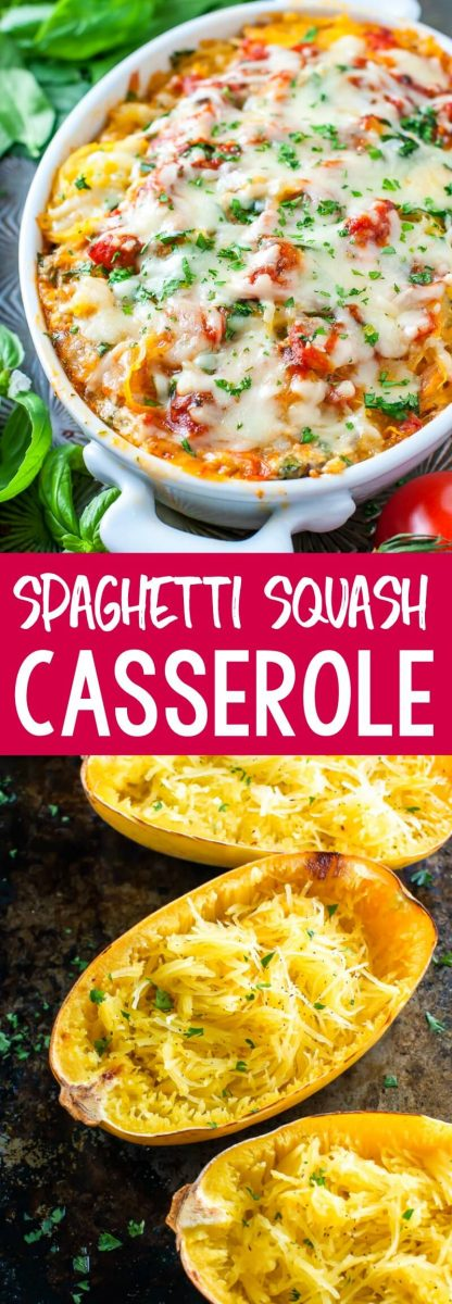 This Spaghetti Squash Casserole channels all the flavor of our favorite lasagna recipe with a healthy low-carb twist! This gluten-free recipe can be served as a side dish or a main entree for dinner. Enjoy!