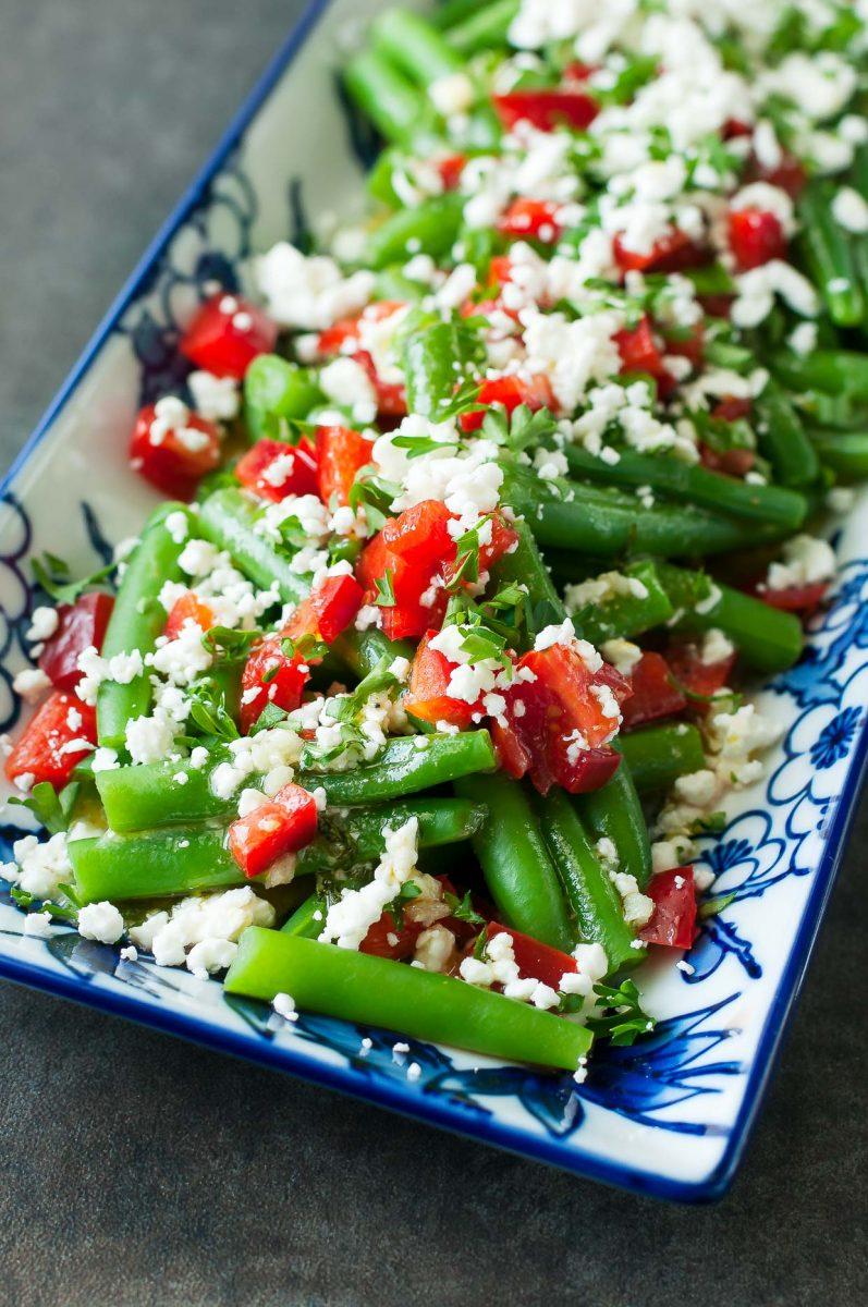 Greek Green Bean Salad with Feta