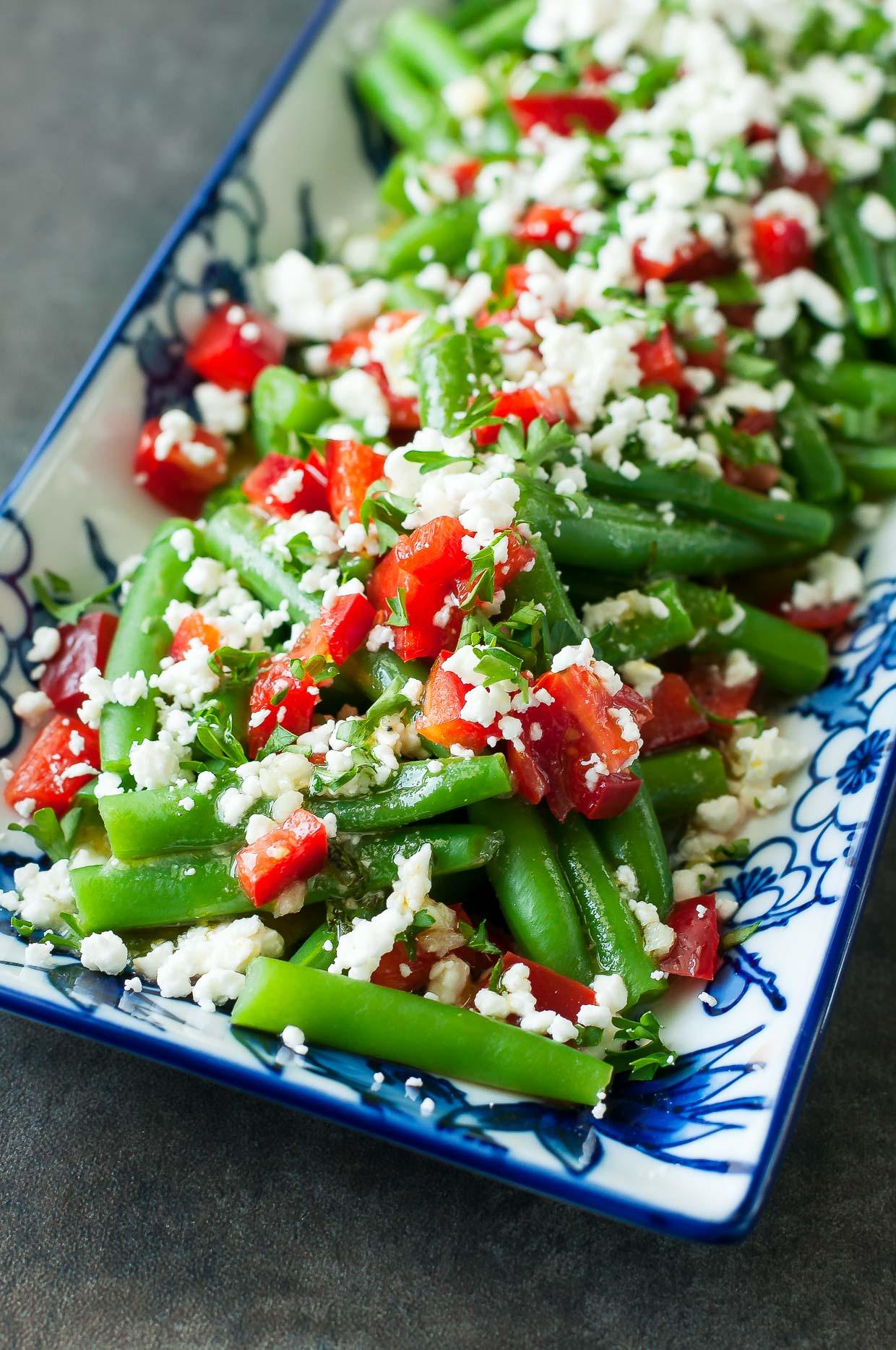 Greek Green Bean Salad Recipe Vegetarian Gluten Free