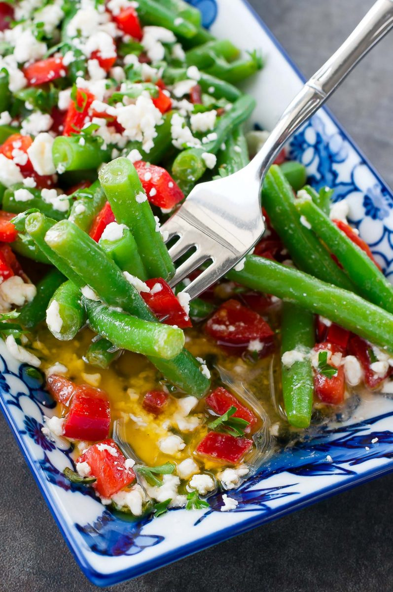 Easy Green Bean Salad with Homemade Dressing